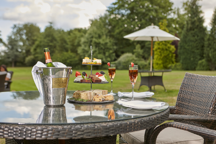 Burnham Beeches Hotel About Us Outside table image | Burnham Beeches Hotel