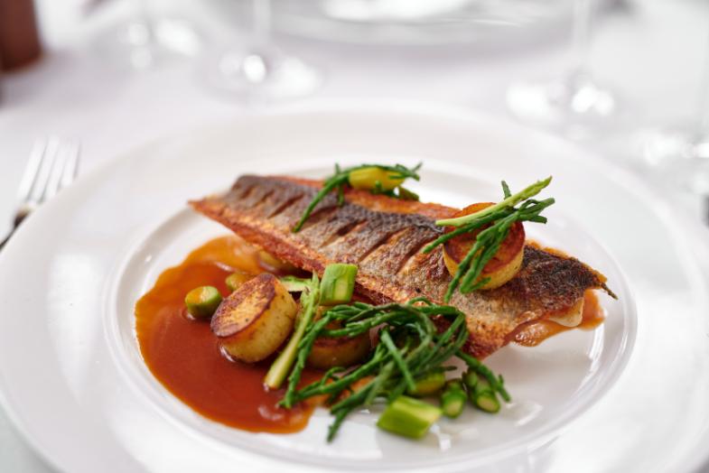 Burnham Beeches main course fish | Burnham Beeches Hotel